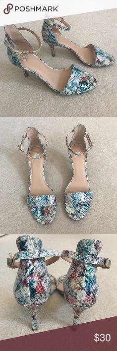 BP Heels Cute colorful heels from Nordstrom. Only worn once!!! bp Shoes Heels