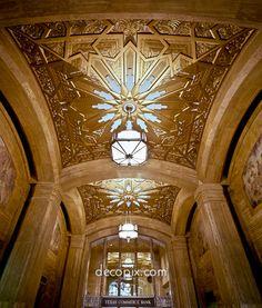 Hallway Ceiling, Gulf Building, Houston, Texas