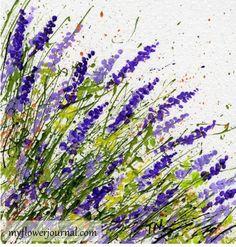 Tutorial: Try a different angle splatter when splatter painting-myflowerjournal.com