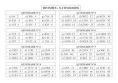 VARAL DE ATIVIDADES: Divisão - 72 continhas