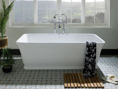 Our finer version of the Senator design, the Magnus is a solid surface bath available in polished or silk.