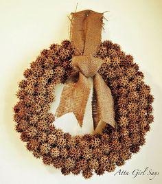 sweetgum ball wreath