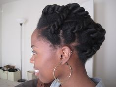 French braided fat two strand twists?  Natural Hair Updo Styles