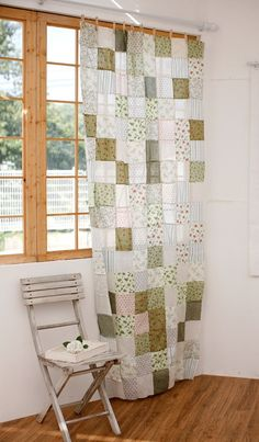 Cute patchwork curtain
