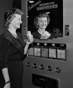 Really...there were such thing as sandwich vending machines in the 1950's?