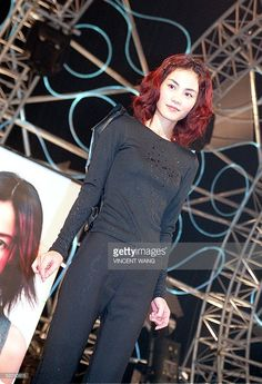 [Caption] EMI star Faye Wong stands covered in sake following the breaking open of a barrell to promote her new album, 'Sing and Play' in Tokyo, 21 October 1998. SOURCE: Getty Images Faye Wong, Hair Reference, Play S, Girlfriends, Stars, 1990s, People, Photography, Fashion
