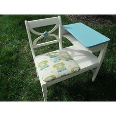 Image of Gossip Bench Telephone Table With Fabric Seat