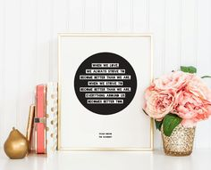 Literary Quote - Paulo Coelho - Instant Download - 8x10 - 11x14 - Printable art - Simple - Typography - Circle -  Quote - Home Decor