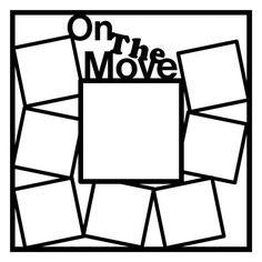 On The Move Scrapbooking Die Cut Overlay by NotJustScrap on Etsy, $3.50