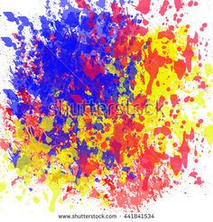 Abstract painted ink and watercolor,color splatter for use in brushes or background for abstract creative work in many kind of pattern isolated on white background - stock photo