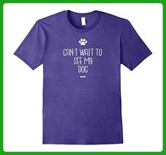 Mens can't wait to see my dog funny dog owner t-shirt 3XL Purple - Animal shirts (*Amazon Partner-Link)