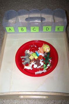 TONS of center ideas on this blog for my preschool autism classroom