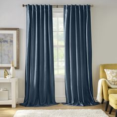Blackout Curtains, Drapes Curtains, Modern Curtains, Denim Curtains, Blue Velvet Curtains, Blue Curtains Living Room, Thing 1, Colorful Curtains, Orange Area Rug