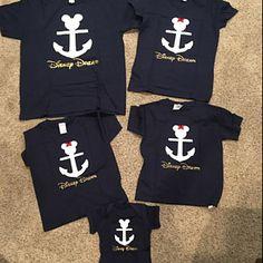 Disney Shirts For Family, Disney Family, Family Shirts, Disney Cruise, Disney Mickey, Cruise Vacation, Mickey Mouse Birthday, Baby Birthday, Nautical Mickey