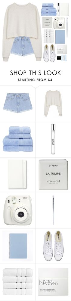 """with shortness of breath you explained the infinite"" by evenings ❤ liked on Polyvore featuring Organic by John Patrick, Christy, philosophy, Moleskine, Byredo, Converse, NARS Cosmetics, Marc Jacobs, white and Blue"