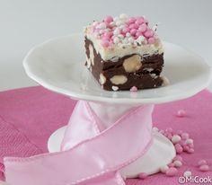 Chocoladefudge met roze muisjes - MiCook