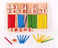 Montessori Wooden Number Math Game Sticks Box - Educational Toy Puzzle - €15