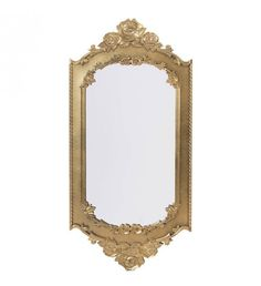 PLASTIC WALL MIRROR IN ANTIQUE BROWN COLOR 37X2X77