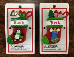 Ganz Itsy Bitsy Personalized NAME Ornaments