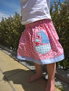 Lazy Days Skirt with applique by fleurcahill, via Flickr