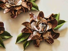 What A Beautiful Mess: Retro Camelot Flower Tutorial