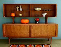 ON RESERVE Mid Century Danish Modern Arne Vodder Sideboard Cabinet with Tambour Doors #livingroom