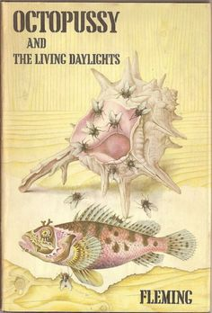 Since Octopussy and The Living Daylights was published postumously, it allowed Chopping free reign, and so he filled the painting with his visual trademark, flies. The first edition, published by Jonathan Cape on June 23rd 1966, only contained the two titular short stories. Over the years, later editions have included two more short stories: The Property of a Lady and 007 in New York.
