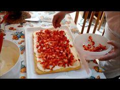 recheio para bolo morango com chantily - YouTube