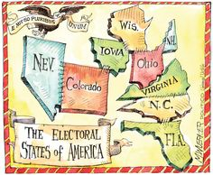 The Electoral States of America. By Matt Wuerker #Election2012 #Politics #GoComics