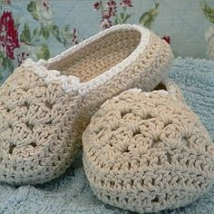 crochet pattern - ladies slippers