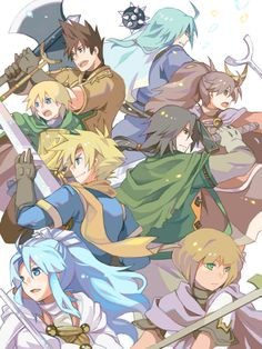 The Golden Sun and The Lost Age character casts.