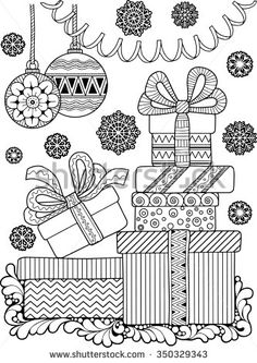 Find Hand Draw Vector Doodle Coloring Page stock images in HD and millions of other royalty-free stock photos, illustrations and vectors in the Shutterstock collection. Thousands of new, high-quality pictures added every day. Christmas Doodles, Christmas Drawing, Christmas Coloring Pages, Coloring Book Pages, Printable Coloring Pages, Coloring Pages For Kids, Christmas Colors, Christmas Art, Illustration Noel