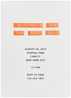 birthdays are the best days | j.crew for paperless post.