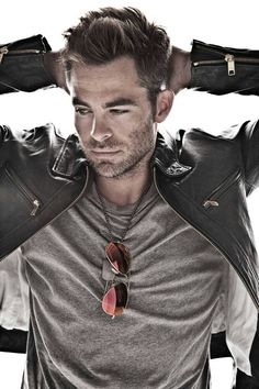 Chris Pine, my all time favorite actor. Can I get this as a poster please!?
