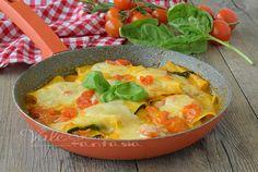 Rotolini di lasagne e zucchine senza forno, primo piatto semplice con colori e profumi mediterranei, economico e gustoso, il suo sapore delicato vi stupirà