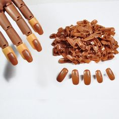 100pcs/pack PP Material Original Type Accessory for Practice Hand Nail Trainer False Nail tips