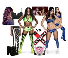 """""""Ringside for Naomi VS. Nikki Bella W/ Brie Bella for the Diva's Championship at Extreme Rules."""" by jamiehemmings19 ❤ liked on Polyvore featuring WWE, Tripp and TURNOVER"""