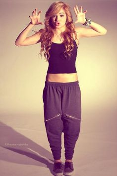 "WANT THOSE SWEATS. oh, I know who that girl is!! She is a dancer from a group called ""I AM ME"""