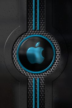 Apple logo design with black and blue Disc Apple Iphone Wallpaper Hd, Android Phone Wallpaper, Nike Wallpaper, Phone Screen Wallpaper, Best Iphone Wallpapers, Mobile Wallpaper, Apple Logo Design, Black Background Wallpaper, Apple Decorations