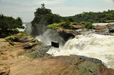 The top of the fall of river Nile