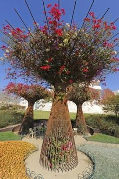 "bougainvillea-garden-art. Here's that super tree structure I saw in ""Singapore"" in another location!"