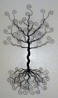 Wire jewelry tree wall hanging earring necklace by ivysgembox, $29.00