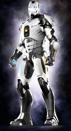 Iron Portal: When Iron Man Meets Portal, future, cyberpunk, futuristic, robot, armor, helmet, sci-fi