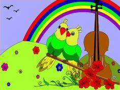 Online coloring love parrots