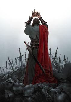 Fantasy Warrior, Fantasy Cosplay, Warrior King, Medieval Fantasy, Dark Fantasy, Fantasy Art, Character Concept, Character Art, Concept Art