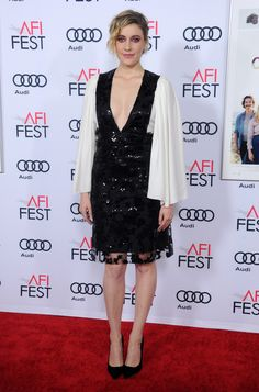 Greta Gerwig wearing ROMY to the '20th Century Women' screening during AFI fest in Los Angeles.