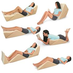 The Eight Position Bed Lounger - Hammacher Schlemmer