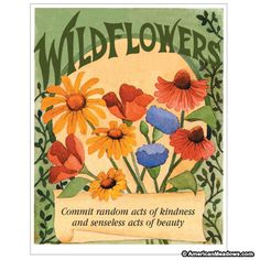 Favor Sized Wildflower Mix Seed Packet - Front of Packet