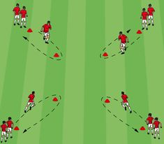 Premier League Four Corners Warm-Up - Competitor Spot Defensive Soccer Drills, Soccer Warm Up Drills, Soccer Passing Drills, Soccer Warm Ups, Football Coaching Drills, Soccer Training Drills, Soccer Tips, Soccer Player Workout, Soccer Workouts