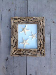 Driftwood Framed Starfish Art by MyHoneypickles on Etsy, $55.00